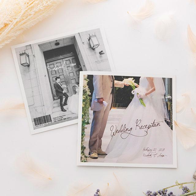 【結婚式席次表】前撮りプロフィールBOOK