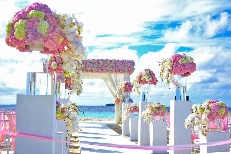 結婚式会場の演出